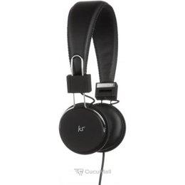 KitSound Manhattan Wired Over Ear Headphones Black (KSMHWBK)