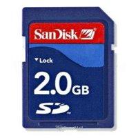 Flash memory (flash drive, memory card, SD, MiniSD, MicroSD) SanDisk SD 2Gb